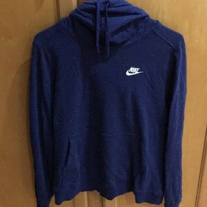 Nike cowl neck hooded sweatshirt sz large